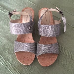 Sparkly wedge shoes